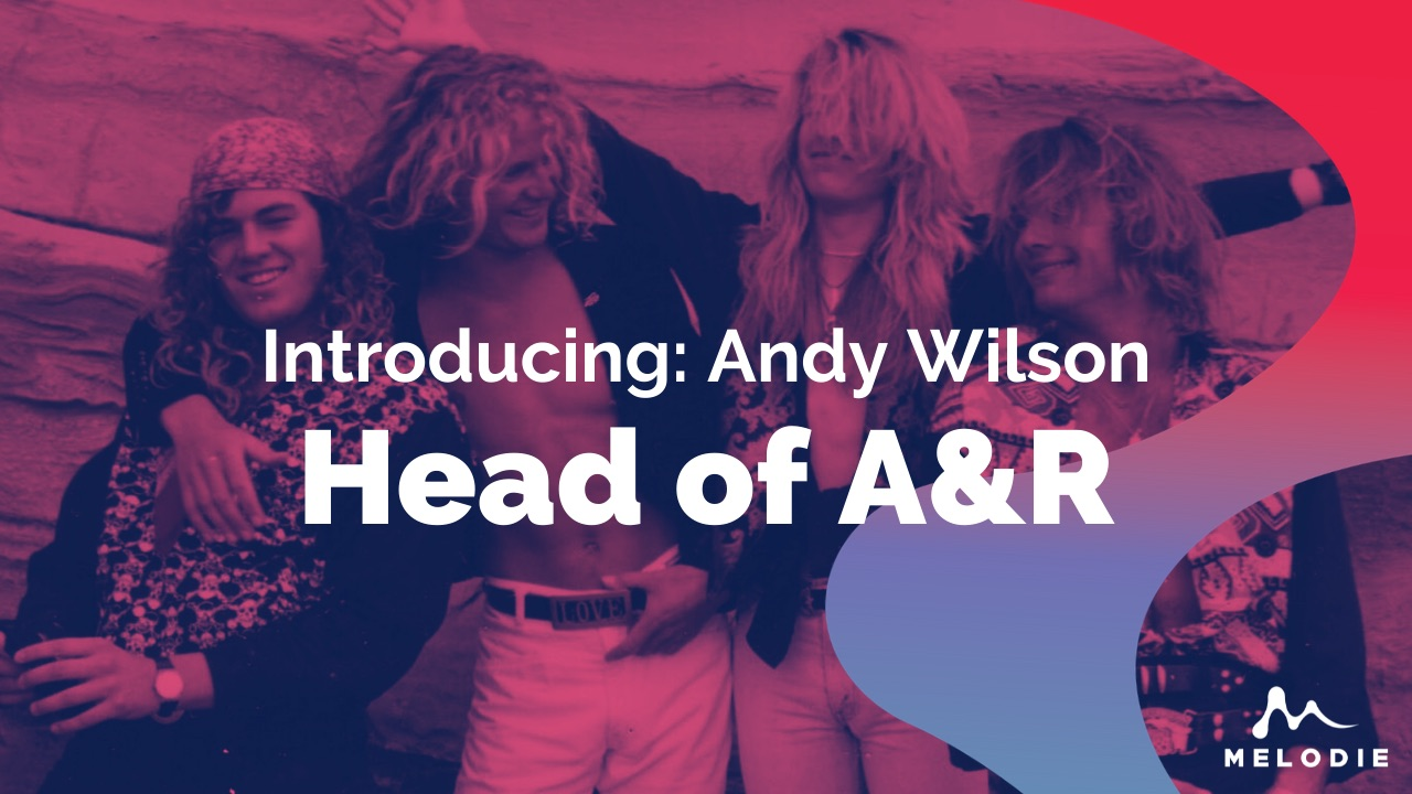 Introducing: Melodie's Head of A&R, Mr Andy Wilson